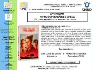 Fórum de Psicanálise e Cinema @ Unirio | Rio de Janeiro | Brasil