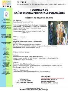 I Jornada de Saúde Mental Perinatal e Psicanálise @ SPRJ | Rio de Janeiro | Brasil