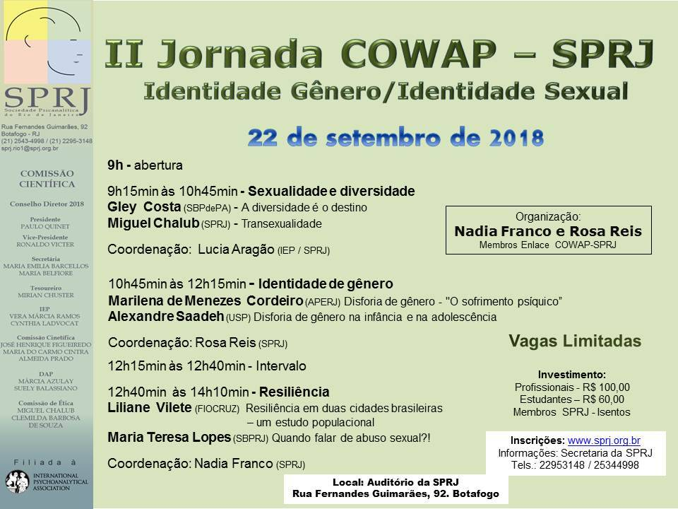 II Jornada COWAP - SPRJ @ SPRJ | Rio de Janeiro | Brasil