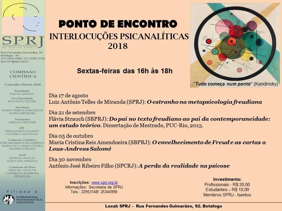 Interlocuções Psicanalíticas @ SPRJ | Rio de Janeiro | Brasil