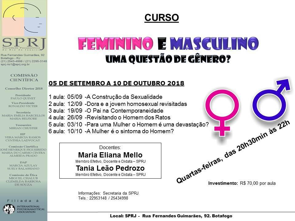 Curso - Feminino e Masculino @ SPRJ | Rio de Janeiro | Brasil