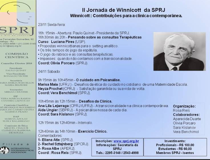 II Jornada de Winnicott da SPRJ @ SPRJ | Rio de Janeiro | Brasil