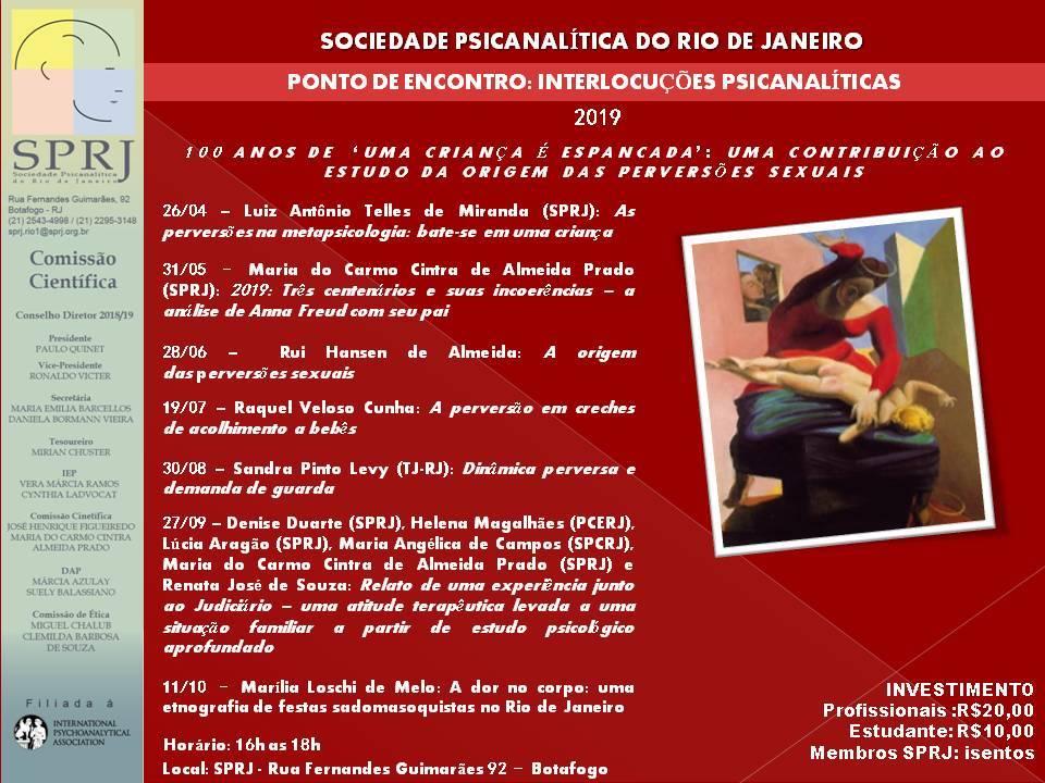 Ponto de Encontro: Interlocuções Psicanalíticas @ SPRJ | Rio de Janeiro | Brasil