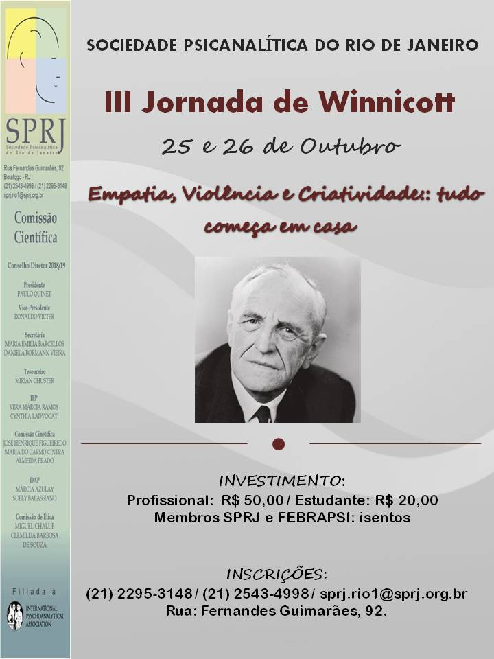 III Jornada de Winnicott @ SPRJ | Rio de Janeiro | Brasil