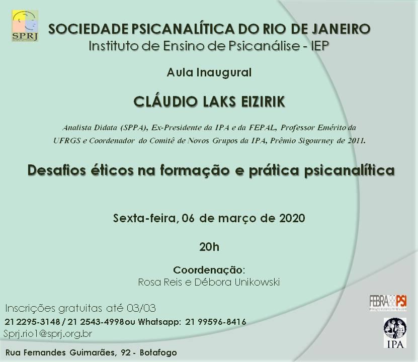 Aula Inaugural @ Sprj | Rio de Janeiro | Brasil