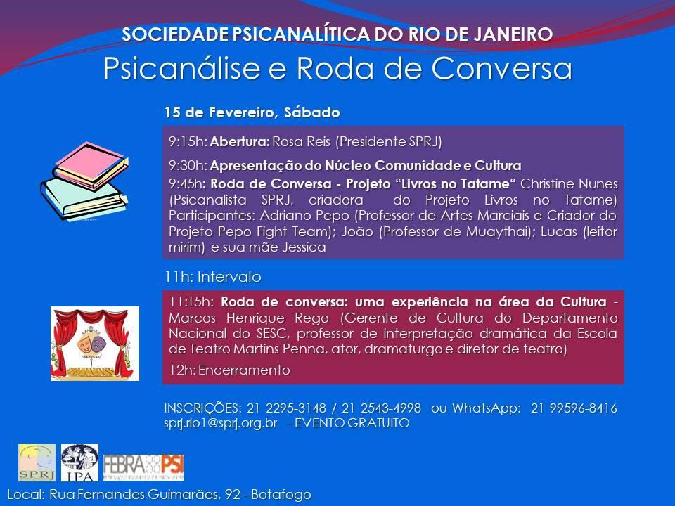 Psicanálise e Roda de Conversa @ SPRJ | Rio de Janeiro | Brasil