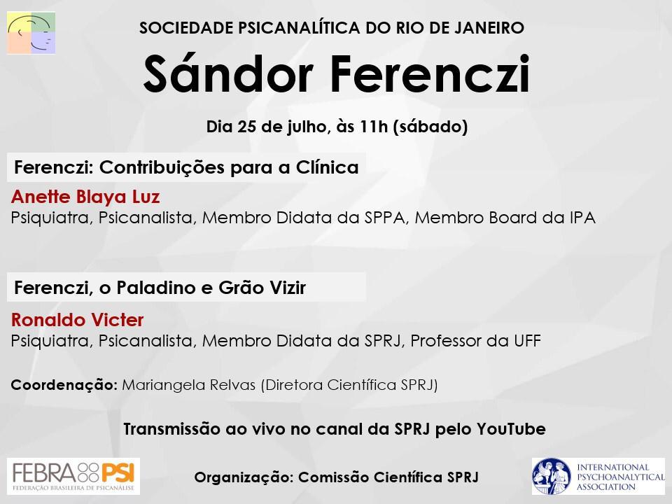 Sándor Ferenczi @ Canal da SPRJ no Youtube