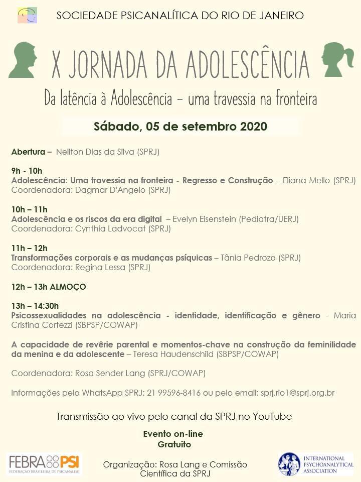 X Jornada da Adolescência @ on-line
