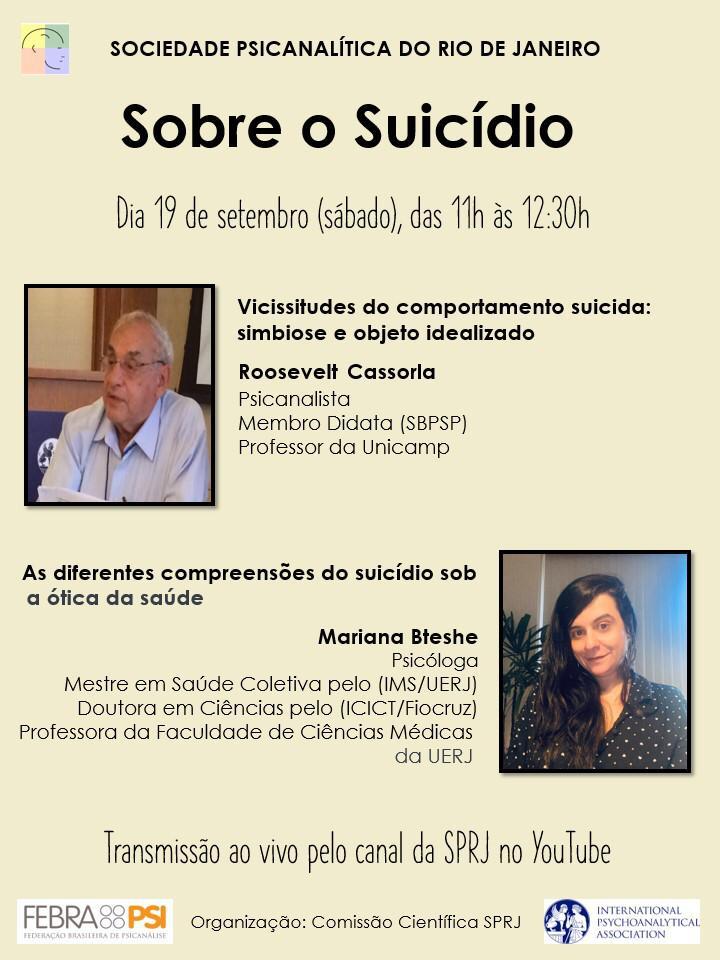 Sobre o Suicídio @ on-line | Rio de Janeiro | Brasil