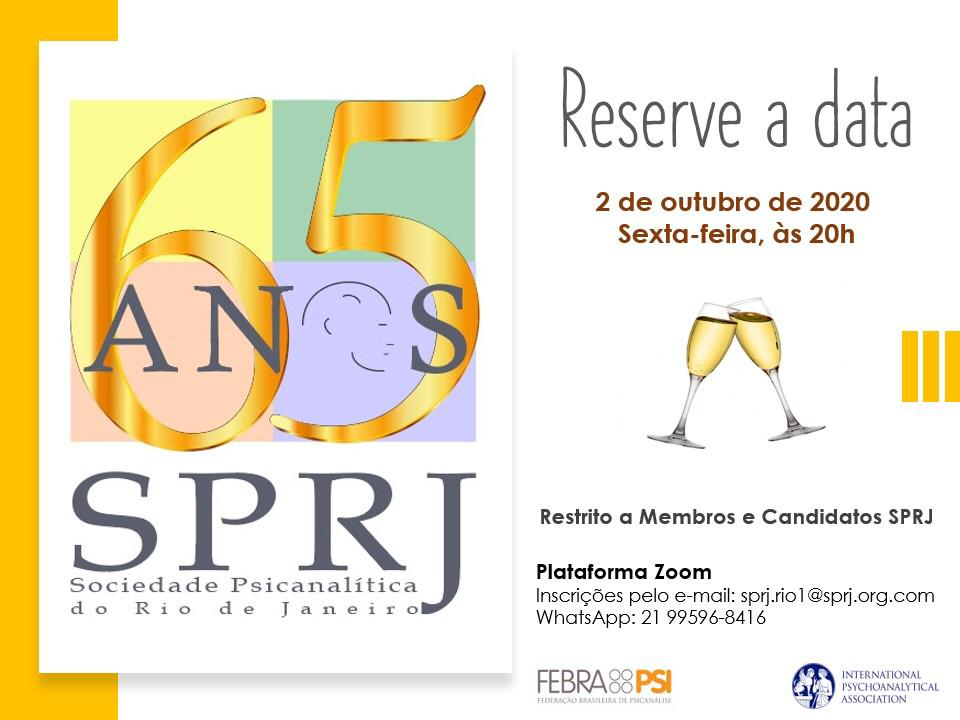 Reserve a data - 65 anos SPRJ @ on-line