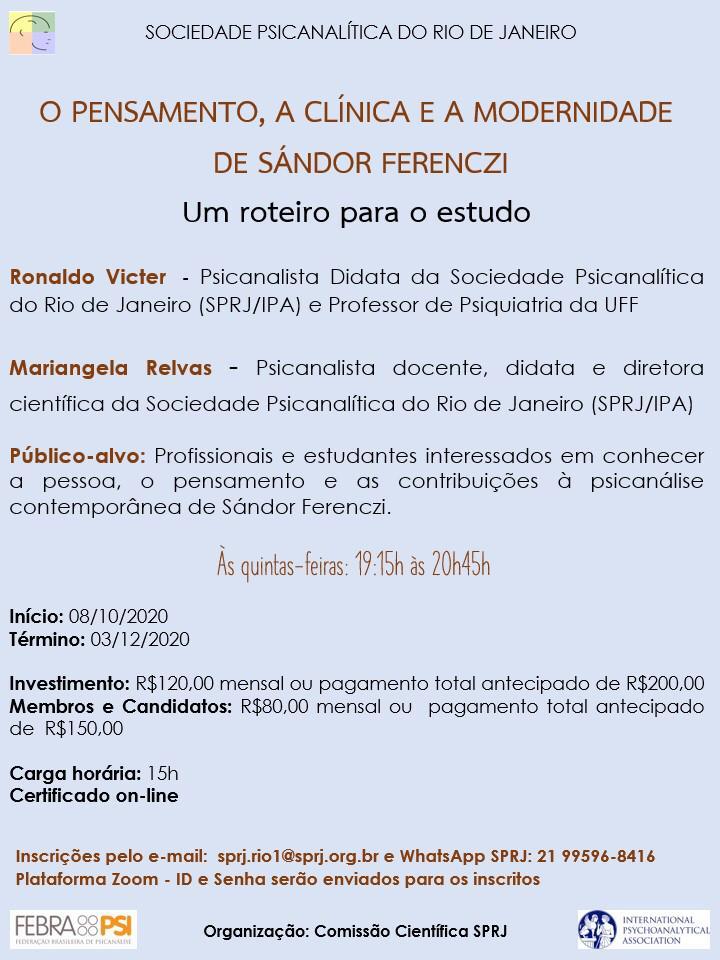O pensamento, a clínica e a modernidade de Sádor Ferenczi @ on-line