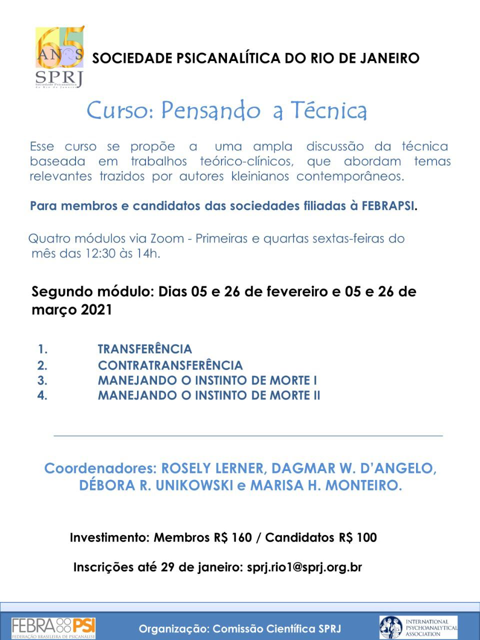 Curso: Pensando a Técnica @ on-line | San Jose | California | Estados Unidos