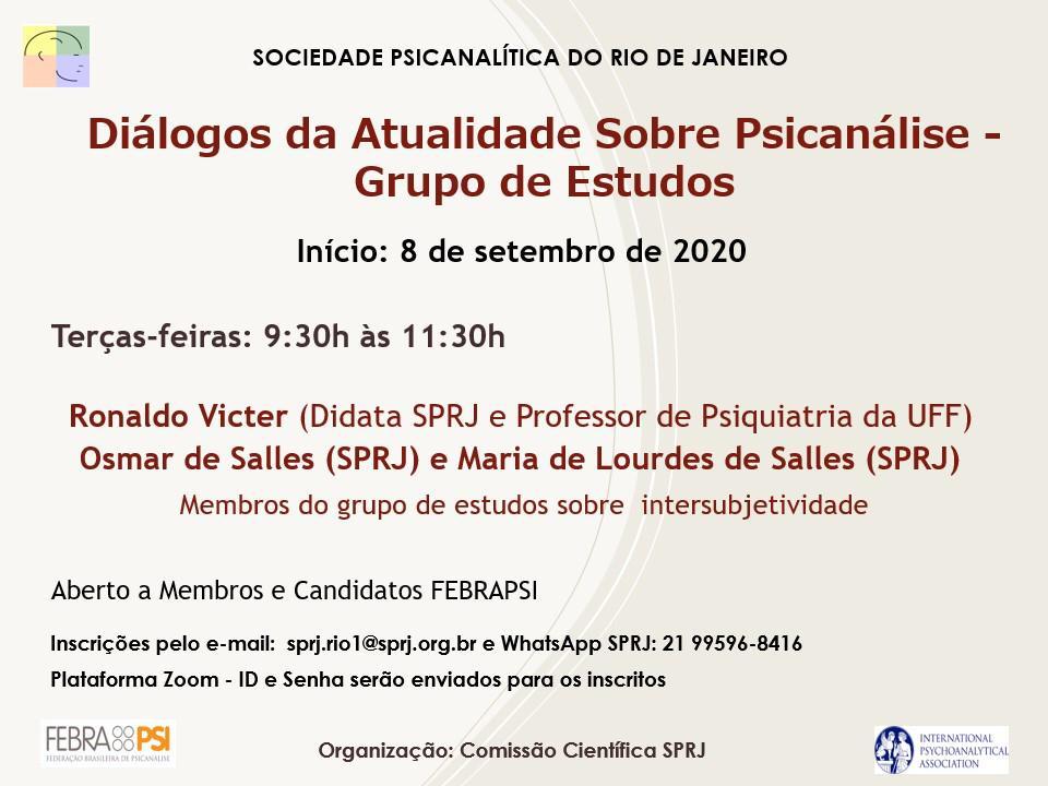 Diálogos da Atualidade Sobre Psicanálise - Grupo de Estudos @ on-line