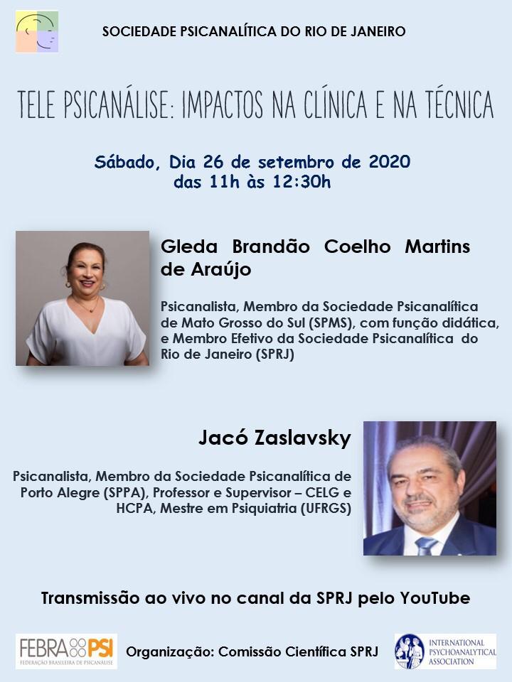 Tele Psicanálise: Impactos na Clínica e na Técnica @ on-line