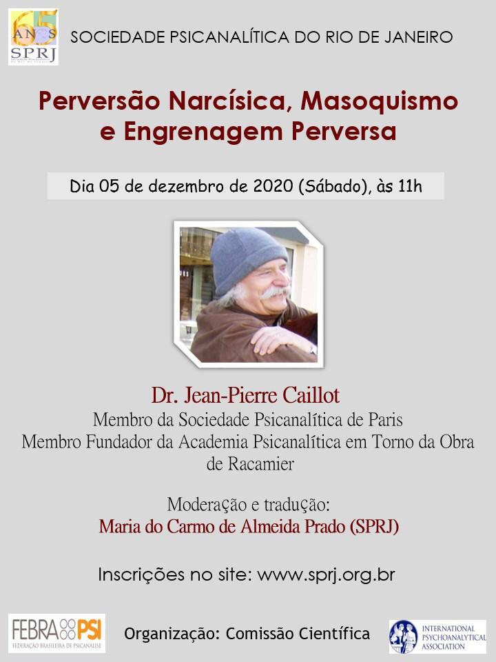 Perversão Narcísica, Masoquismo e Engrenagem Perversa @ on-line | Rio de Janeiro | Brasil