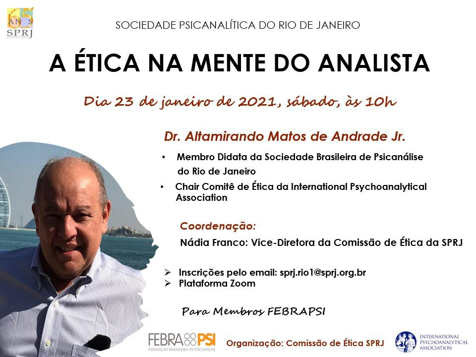 A Ética na mente do analista @ on-line