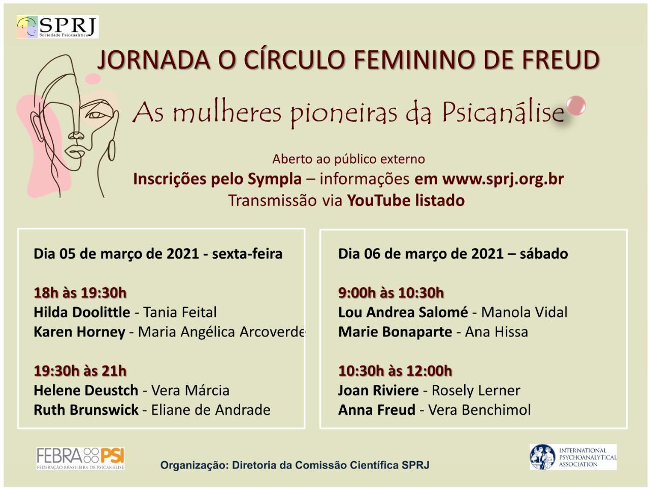 Jornada O Círculo Feminino de Freud @ on-line