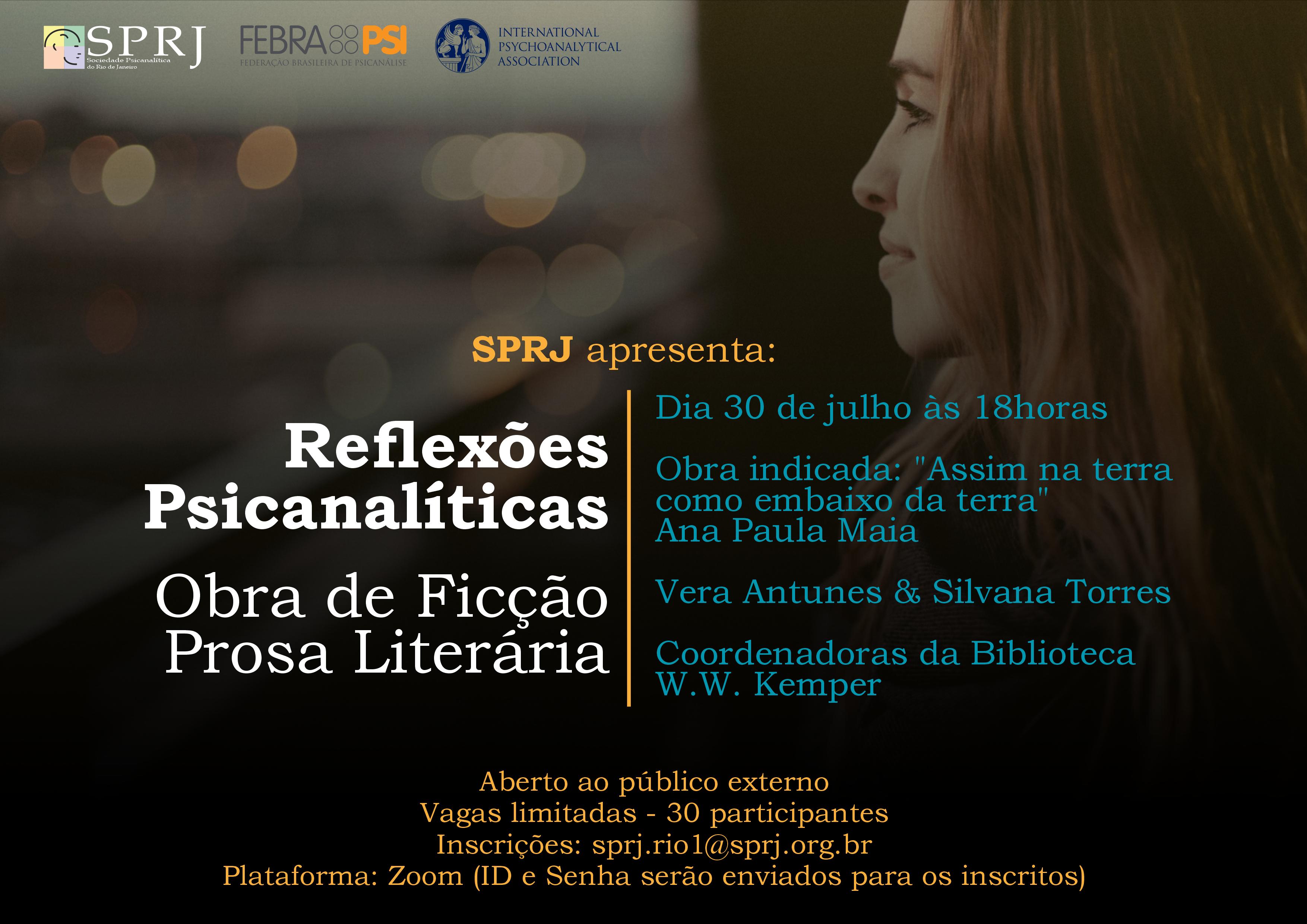 Reflexões Psicanalíticas - Obras de ficção Prosa Literária @ on-line