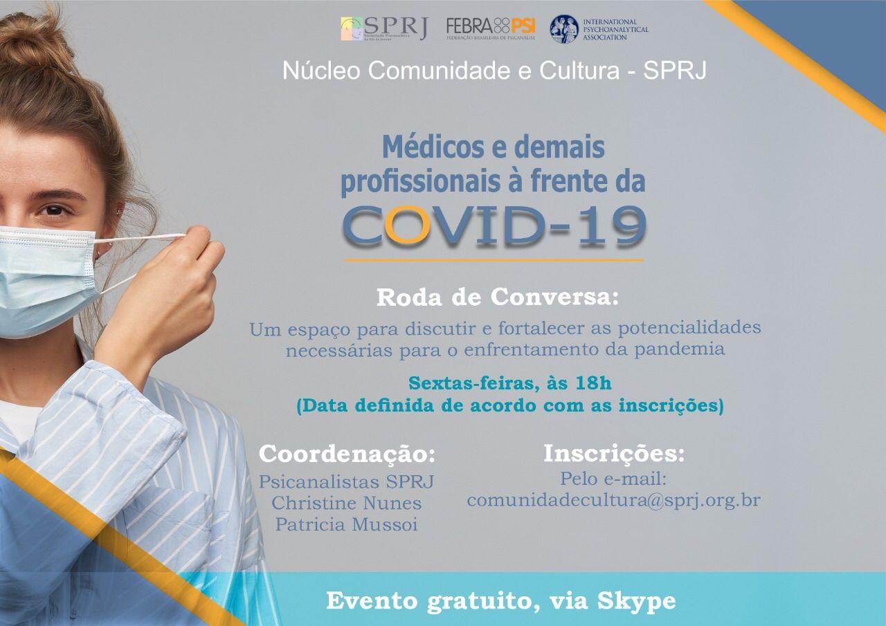 Médicos e demais profissionais à frente da COVID-19 @ on-line