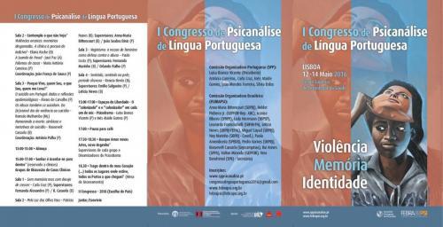 I Congresso de Psicanálise em Língua Portuguesa